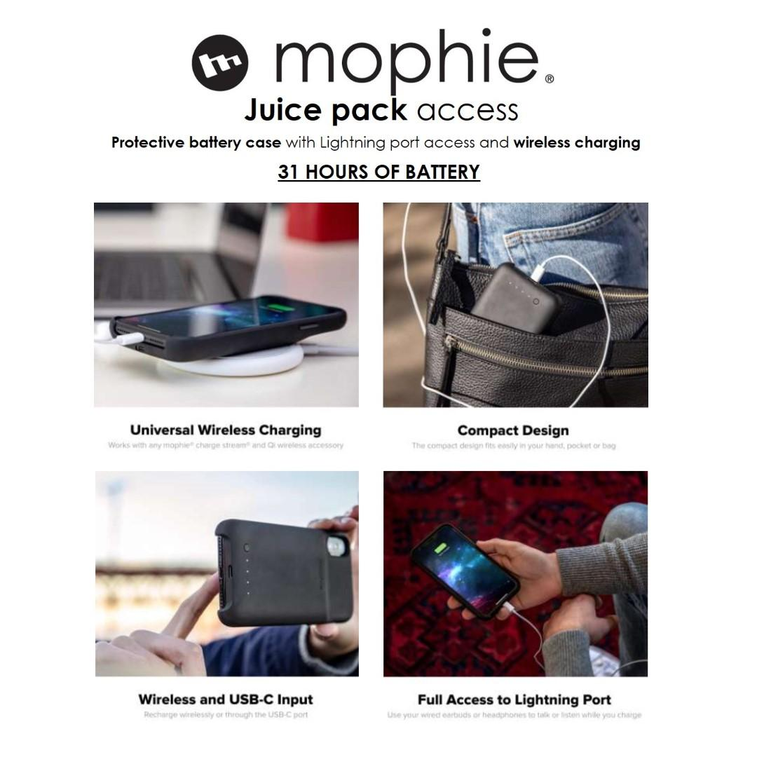 Mophie juice pack battery case for iPhone XS MAX / XR