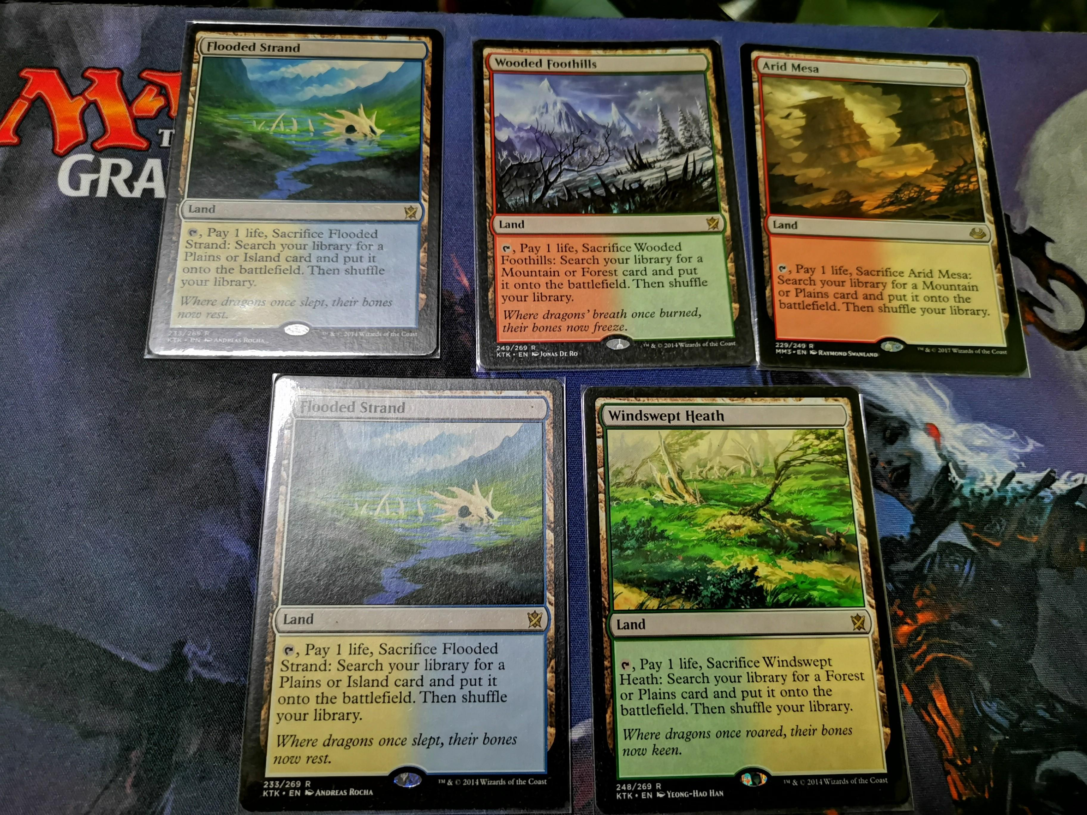 Fetch Lands mtg fetch lands, toys & games, board games & cards on carousell