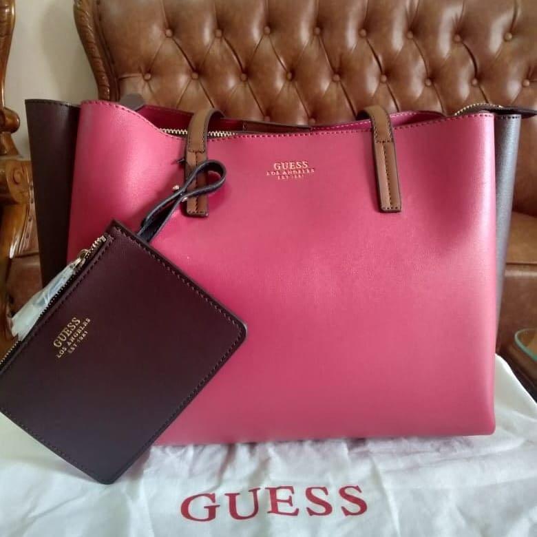 New dr beli Handbag guess ori bahan kulit asli lengkap set & cantik✨