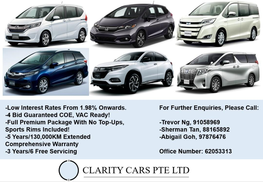 Brand New PI/Parallel Imported Cars/Vehicles For Sale!
