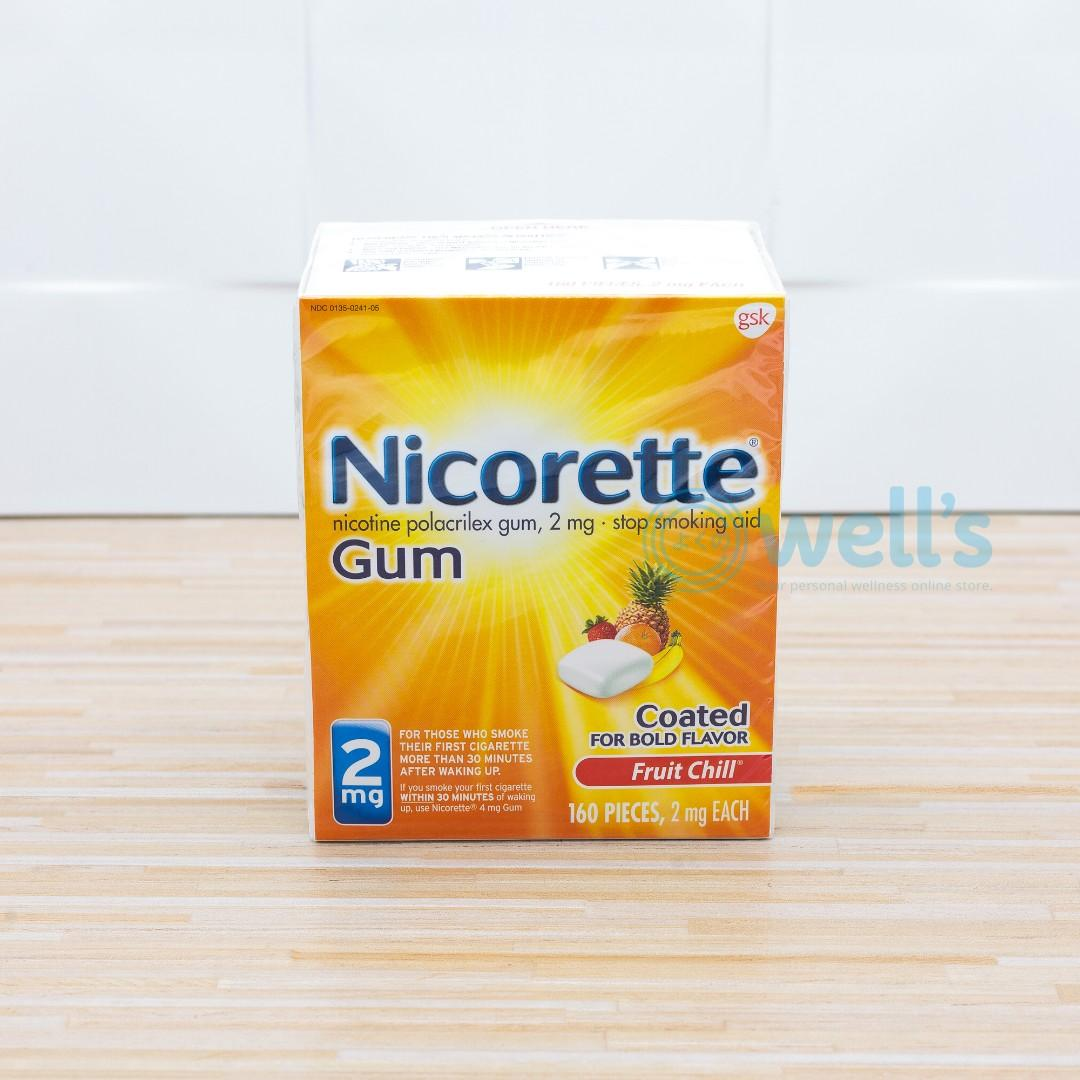 Nicorette Gum Quit Smoking Aid  Fruit Chill Flavor 4mg