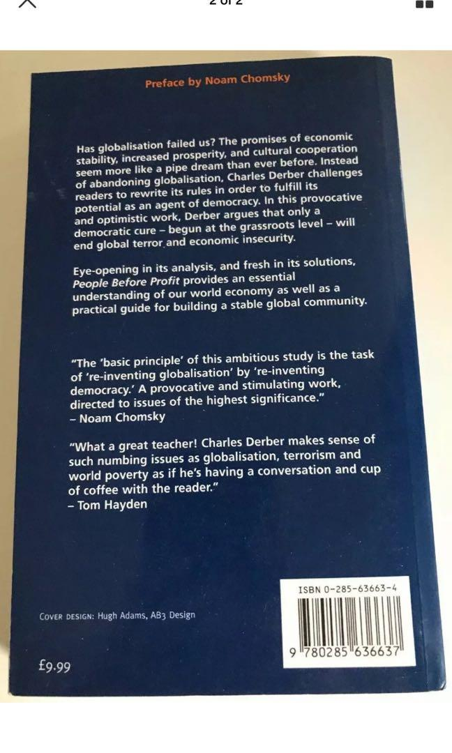 People Before Profit - Charles Derber - Book