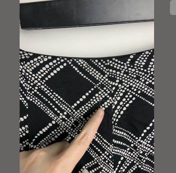 Perri Cutten sz 10 black white midi skirt flowy flare smart casual teacher work