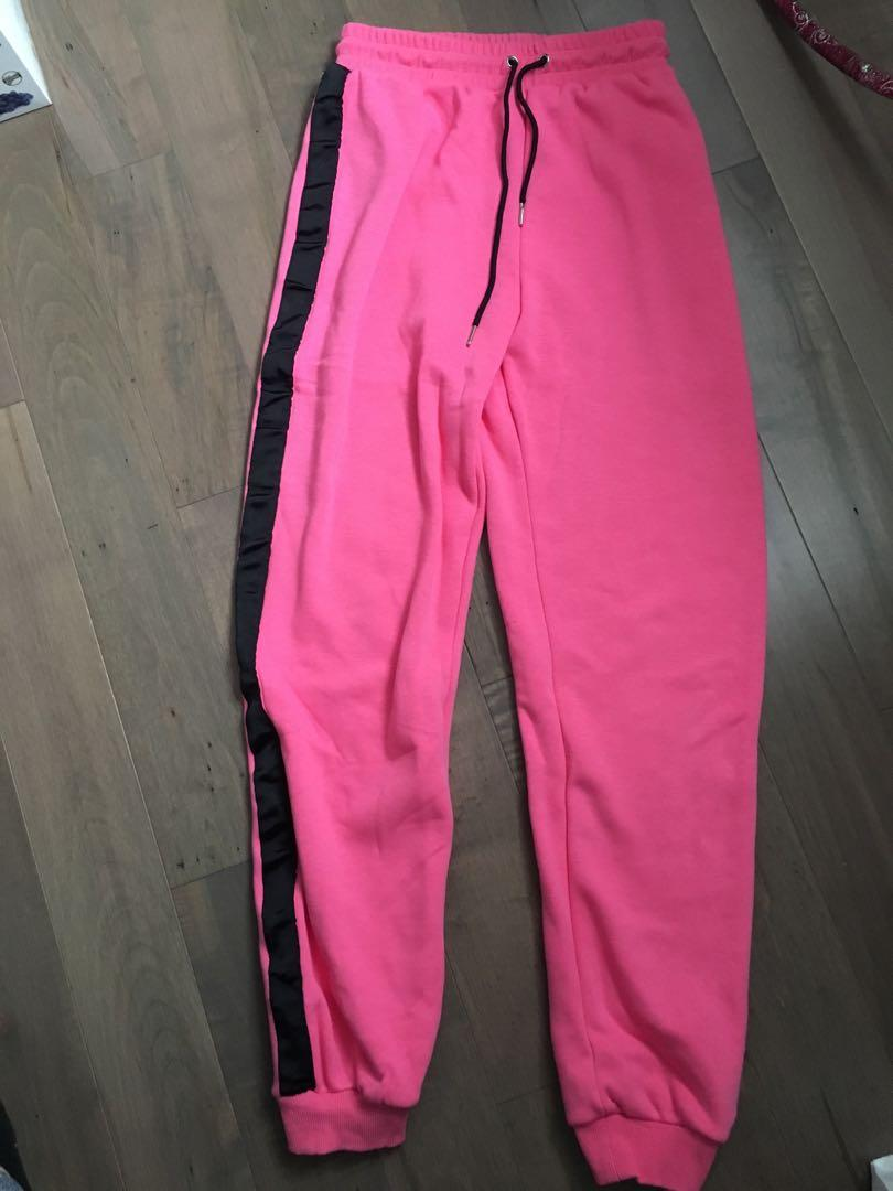 Pink tiger mist sweat suit size small top and bottom