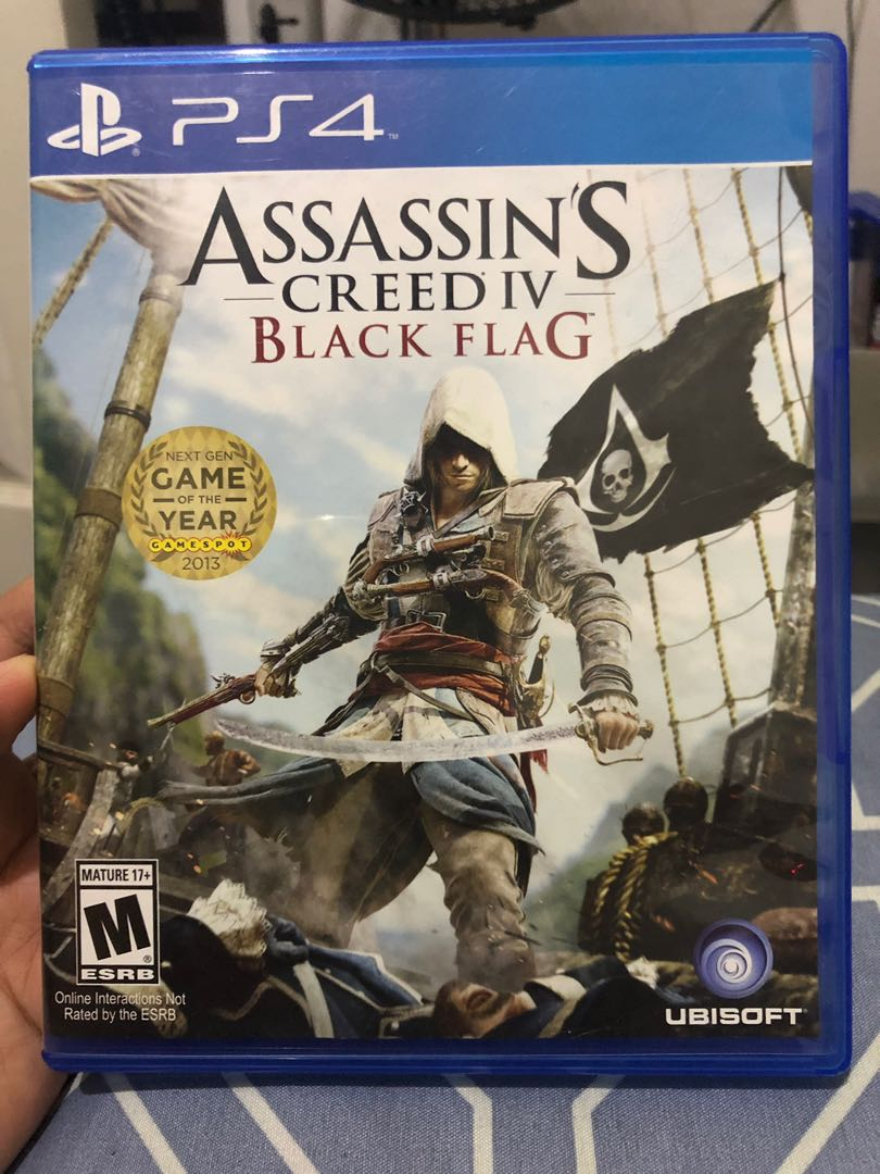 Ps4 Game Assassin S Creed Iv Black Flag Video Gaming Video