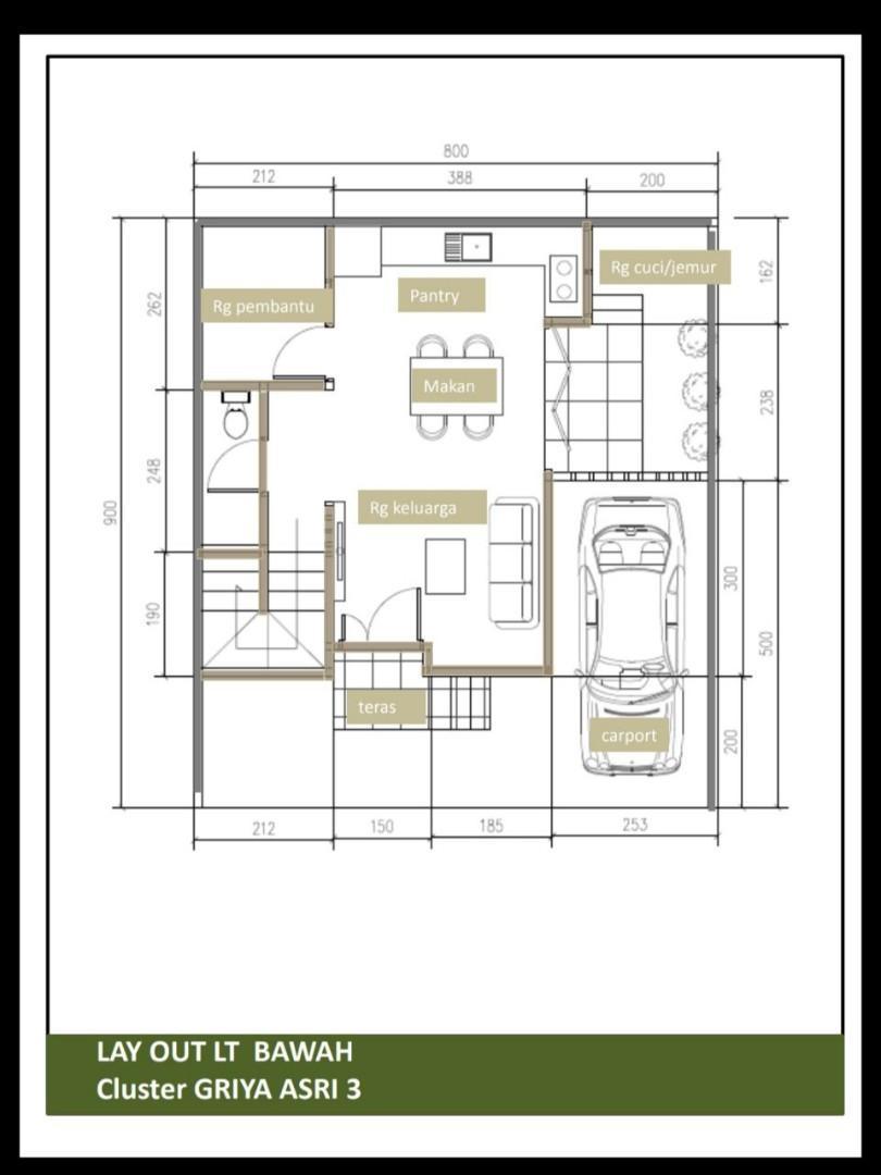 Rumah minimalis Duren sawit