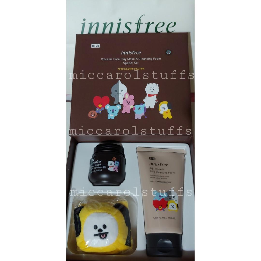 [SHARING GOODS] Innisfree x BT21 Volcanic Pore Clay Mask