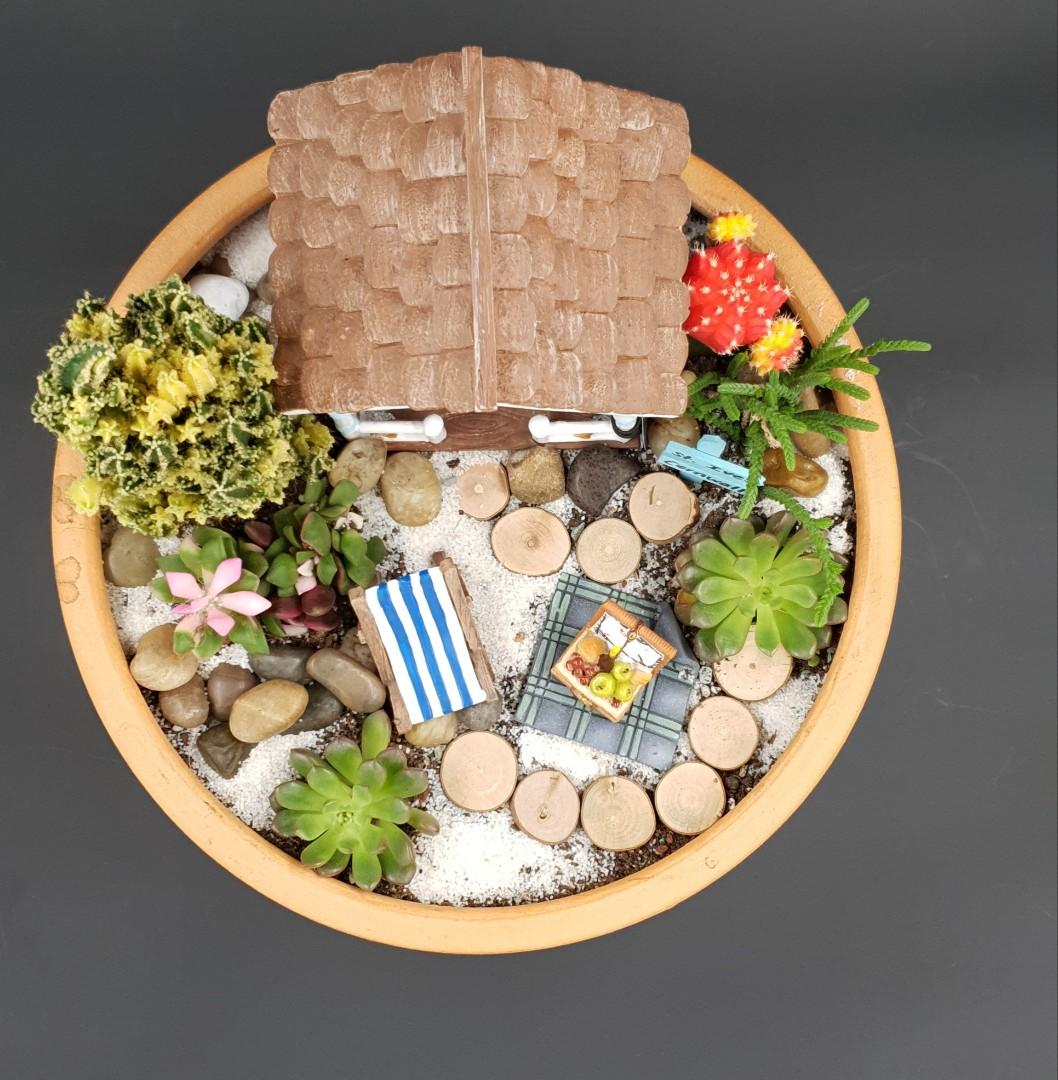 St Ives Cornwall Landscape Inspired Handcrafted Miniature Tabletop Garden