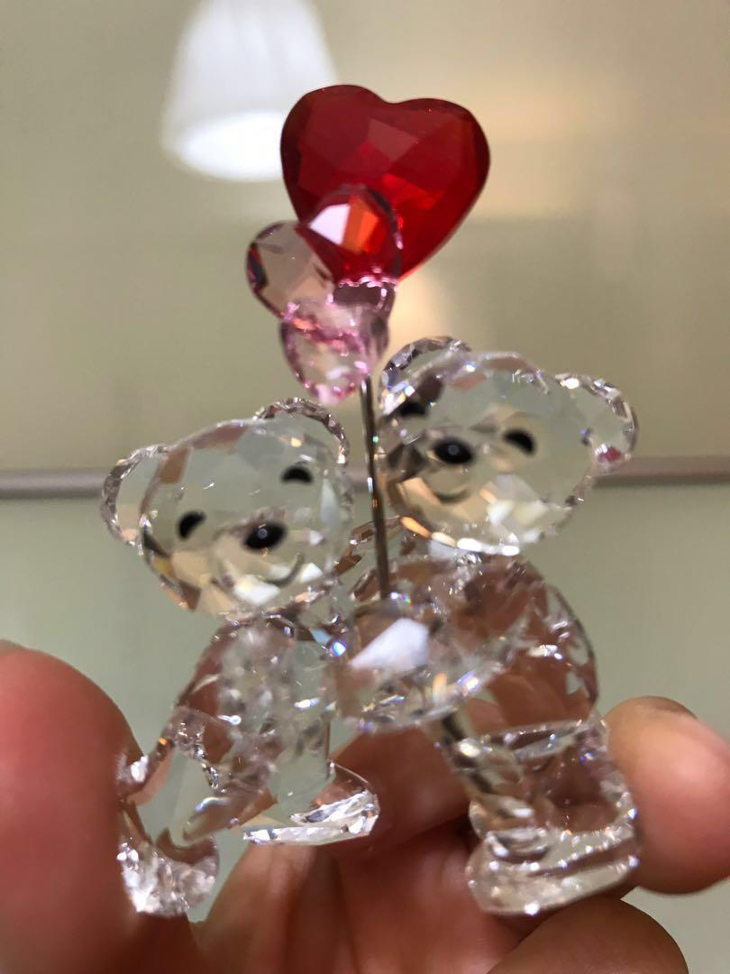 Swarovski 水晶擺設 couple bears