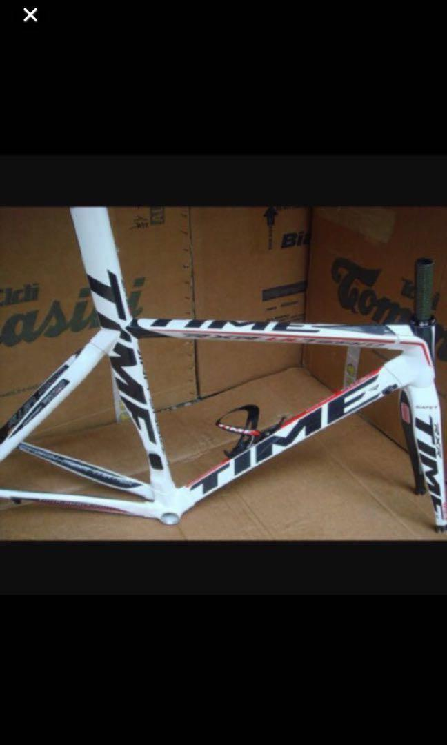 Time RXR ulteam White Carbon Module Frame OEM Road Bike (Not