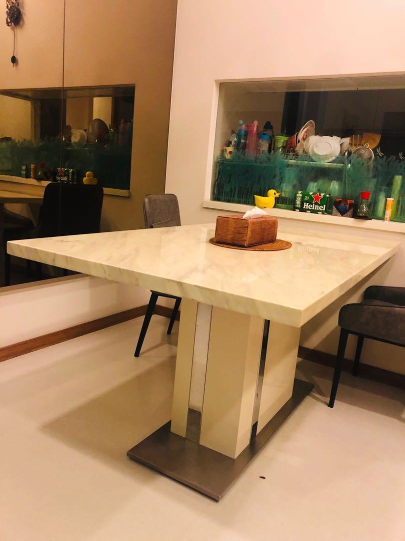 Top Value Italian Marble Dining Table