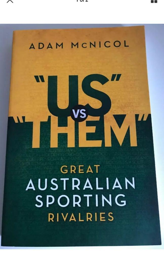 US Vs THEM: Great Australian Sporting Rivalries by Adam McNicol Paperback Book F