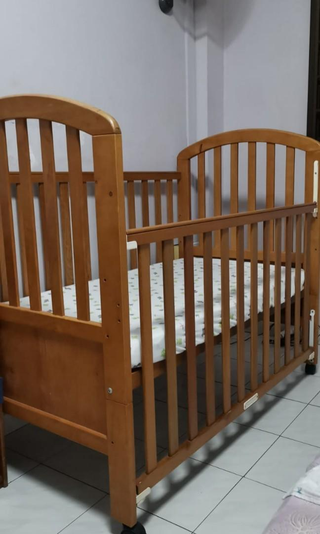 Wooden Baby Cot Solid Wood Babies Kids Cots Cribs On Carousell