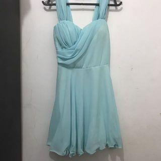 Dress Chiffon Baby Blue