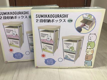 日本直送 角落生物 兩層收納架 收納盒 置物架 收納層架 SAN-X 儲物箱