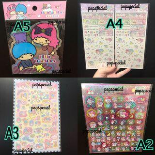 Sales ! Little Twin Stars Stickers A5 A4 A3 A2