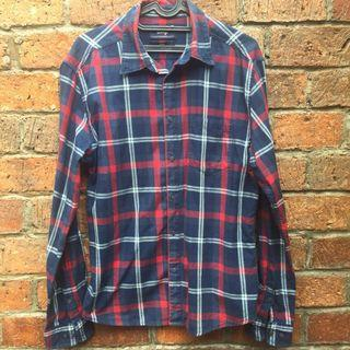 SKELLY Navy Flannel Shirt
