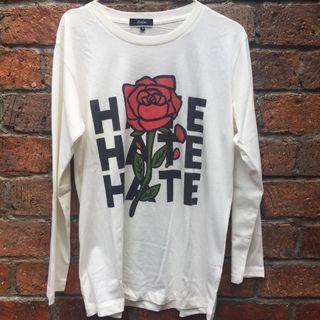 MONSTORE White Longsleeve Tshirt