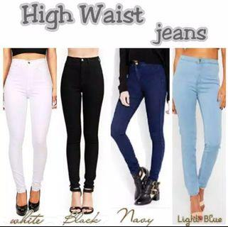 Celana highwaist jeans 27,28,29,30 ready