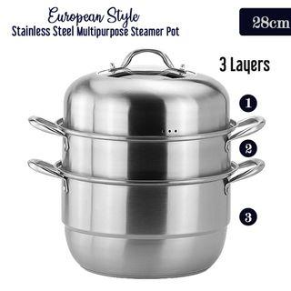 Stainless Steel Multipurpose Steamer
