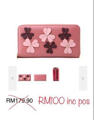🆓📮 Authentic Boutique Giossardi Special Clover Leaf Accordion Zip