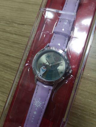 Disney frozen Elsa watch 手錶 會漸變光暗