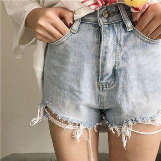 牛仔短褲💜