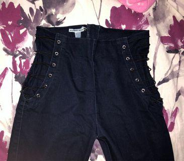 Dark Washed High-Waisted Jeans
