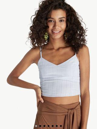 Pomelo Crop Textured Tank Top