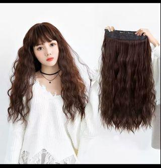 Instock light brown corn wave clip on hair extension*Brand new in package*chat to buy if int