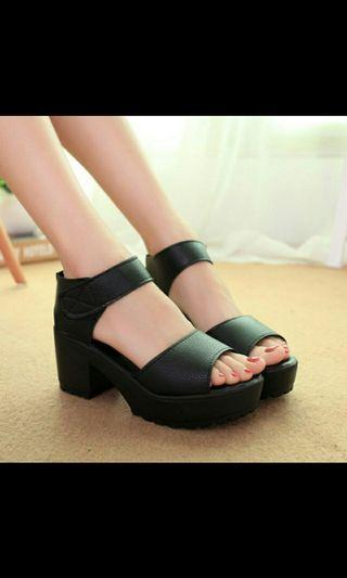 (NO INSTOCKS!) Preorder korean style Chunky heels Stylenanda platform shoes * waiting time 15 days after payment is made *chat to buy to order