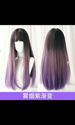 (NO INSTOCKS!)Preorder korean Air bangs natural fluffy long straight wig* waiting time 15 days after payment is made * chat to buy to order