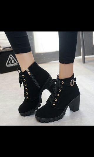 (*NO INSTOCKS!)Preorder korean Martin boots heels shoes *waiting time 15 days after payment is made *chat to buy to order