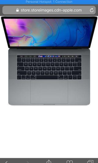 "Macbook pro 15"" 2019 base model"