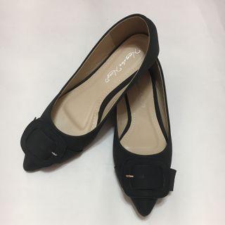 🆕 🇰🇷全新韓國黑色尖頭平底鞋 上班鞋 返工鞋