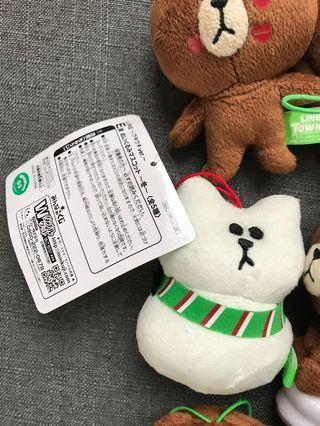 Line Friends 10cm雪人熊大