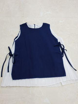 Top ribbon navy