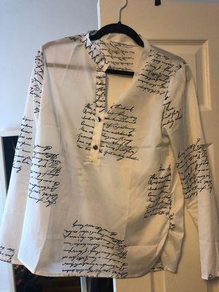 Women's top/blouse with print