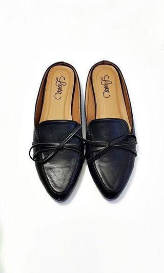 Black Tamara Mule Shoes Lova