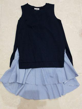 Dress two piece navy