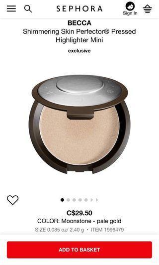 Becca Highlighter - Shimmering Skin Perfector
