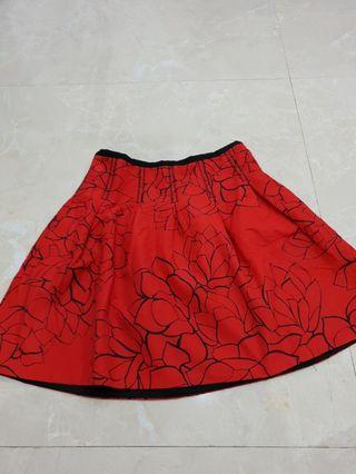 Rok flower red impor