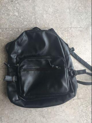 Black Small Bag/Backpack #CarousellFaster