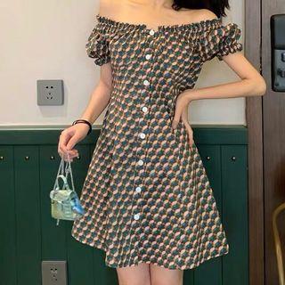 Off Shoulder Dress Vintage