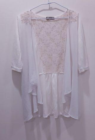 針織輕薄小罩衫