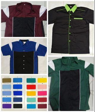Custom-made shirt/uniform with wordings & logo Embroidery