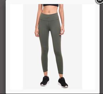 Cotton On Body Women Active Core 7/8 Tights Khaki
