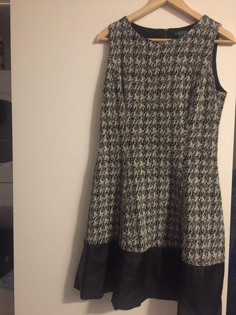 (10) Ralph Lauren Soft but Sturdy Dress with Leather