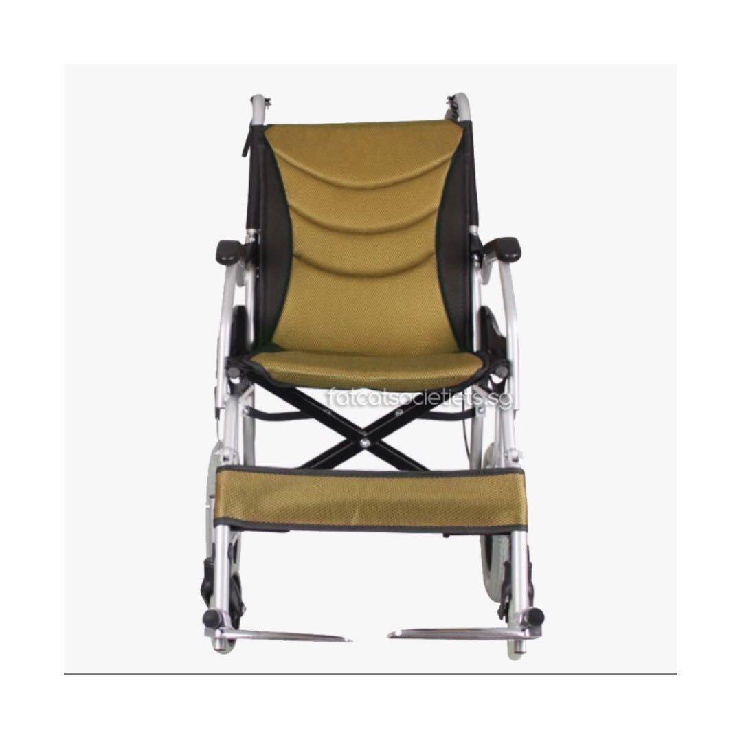 10kg affordable aluminium wheelchair / pushchair (removable cushion)