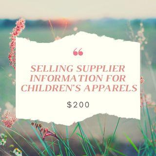SUPPLIER INFORMATION FOR CHILDREN APPARELS